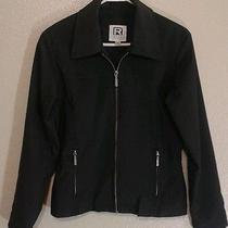 Rampage Wear Black Full Zipper Jacket Size Med Pvc Form Fitting Photo