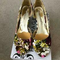 Rampage - Women's Peep Toe Wedge Sandals - Floral - Size 9.5m - 9.5 Photo