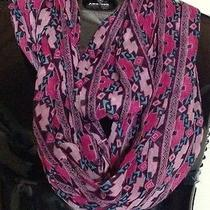 Rampage Women's Pink Purple Tribal Print Infinity Scarf Nwt One Size Photo