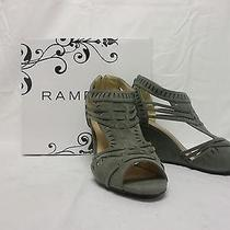 Rampage Women's Shoes Kazuki Wedge Sandal Grey 9.5m Us Photo