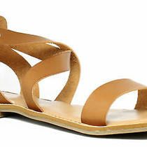 Rampage Womens 44360ije6 Cognac Ankle Strap Flats Size 6 (371075) Photo