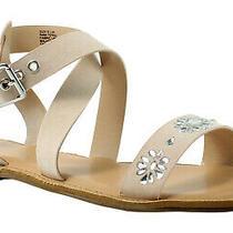 Rampage Womens 44365ijl9.5 Blush Ankle Strap Flats Size 9.5 (375510) Photo