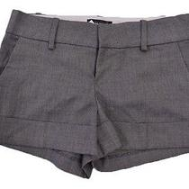 Rampage Womens Macys Gray Cuffed Hem Professional Captivating Dress Shorts Sz 3 Photo