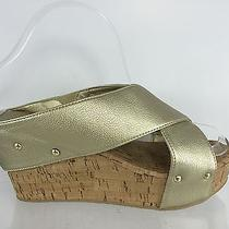 Rampage Womens Mettalic Gold Sandals 8 M Photo