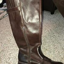 Rampage Womens Tall Fashion Boots Cognac/dark Brown Size 8 M  Photo
