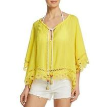 Ramy Brook Lemon Yellow Dimitri Crochet Tasseled Top Nwt Size Xs/s Photo