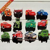 Random 60pcs Cars Pvc Shoe Charms Shoe Buckles Fit Croc Bracelets Pary Gifts Photo
