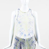 Raquel Allegra Nwt 294 Skyblu Yellow Blue Silk Tie Dye Sleeveless Tank Top Sz 2 Photo
