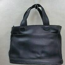 Rare 1960's Authentic Coach Leather Bleeker Bag Purse Zipper Tote Black C9d 9303 Photo