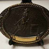 Rare 1980-Steven L Knight  Bronze Belt Buckle - Barrel Racing Photo