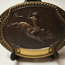 Rare 1980-Steven L Knight  Bronze Belt Buckle -Bull Riding Photo