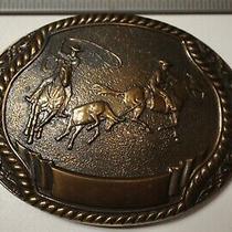 Rare 1980-Steven L Knight  Bronze Belt Buckle -Calf Head & Heel Photo