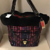 Rare 698 Coach Poppy Tartan Heritage Tote/handbag Plus 2 Bonus Items Photo