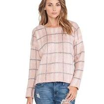 Rare 70 j.o.a. Los Angeles Checked Blush Pink Plaid Sweater Soft Pullover Xs Photo