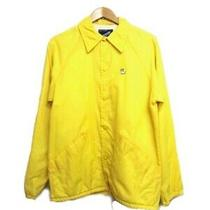 Rare a Duck With Sunglasses One Point 70s 80s Vintage Nylon Coach Jacket Yellow Photo