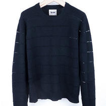 Rare Acne Studios See Through Stripes Crewneck Sweater Photo