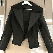 Rare Alexander Wang Black Wool/cashmere Cut-Out Jacket - Size 8 Photo