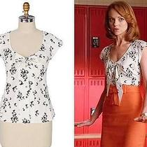 Rare Anthropologie Dusky Dolphin Blouse Top Odille Glee S 4 Photo
