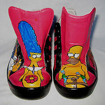 Rare Art Design the Simpsons Adidas Rated R Sneakers Hand Painted  Photo