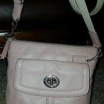 Rare Authenic Coach Light Blush Pink Smooth Leather Crossbody Photo