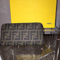 Rare Authentic Fendi Wallet Nib Nwt Hand Painted Zucca Wallet Photo