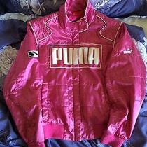 Rare Awesome Puma Biker Style Jacket Electric Hot Pink Size S Photo