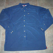 Rare Awesome the North Face Blue Button Up Shirt L Hiking Fishing Climbing Photo
