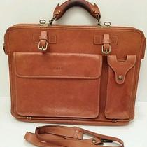 Rare Bally Briefcase Computer Bag Brown Leather Tote Vintage Men Photo