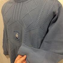 Rare Bally Bunion Golf Club Crew Neck Sweater by Lyle & Scott Size Large Blue  Photo