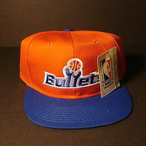 Rare Baltimore/washington Bullets Hat / Cap One Size 1990's by Ajd  Photo