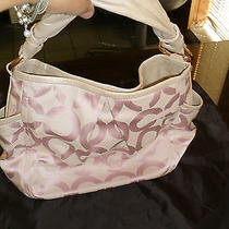 Rare Beautiful Coach Pink Op Art Parker Hobo Shoulder Bag  Photo