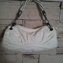 Rare Beauty  Botkier Ivory Leather Baguette / Wristlet With Unique Handle  Photo