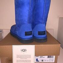 Rare Blue Ugg Boots Size 6. Only Worn Twice Good Condition With Box Photo