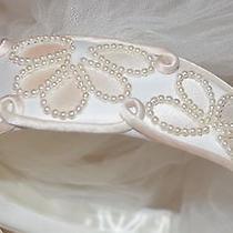 Rare Blush Pearl Headband Veil Bride 2-Tier Waist  Blusher Photo