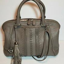 Rare Brighton Masterpiece Taupe Kiara Doctor Bag Satchel Leather Crossbody 450  Photo