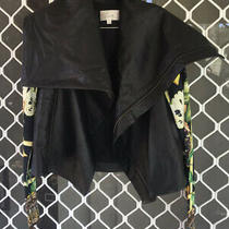 Rare Camilla Franks Garden of Eden Black Leather Jacket Size 1 Small 4 Express Photo