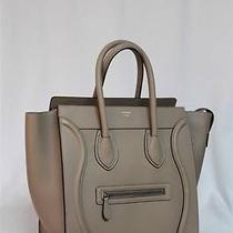 Rare Celine Dune Mini Luggage Drummed Leather Tote Bag New 2015 Photo