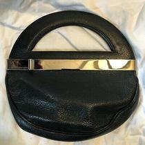 Rare Circle Disco Black Leather Marc Jacobs Clutch Bag Silver Hardware Round Photo