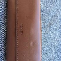 Rare Coach Early Vintage Brown Leather Eyeglass Sunglasses Case Pouch Photo