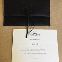 Rare Coach Fall 2018 Show Invitation & Leather Envelope-Glove Tanned Leather Photo