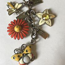 Rare Coach Flower Dragonfly Butterfly Key Chain Charms Photo