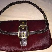 Rare Coach Ltd Ed Wine Red Burgundy Pony Hair Leather Small Bag Photo