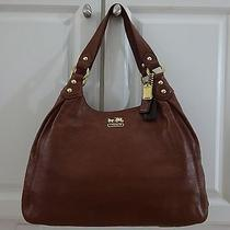 Rare Coach Madison Acorn Brown Leather Maggie Shoulder Bag- 398 Photo