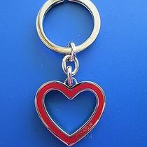 Rare Coach Red Enamel Heart Key Ring  Photo