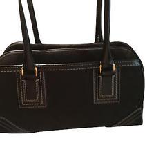 Rare Coach Signature Black Hampton Satchel Bag 10532 Few Flaws Photo