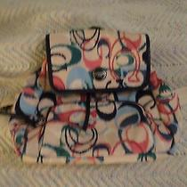 Rare Coach Signature Ikat Print Backpack Purse Photo