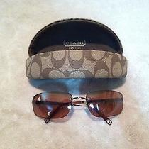 Rare Coach Taylor S320 Rose Gold Oop Rimless Sunglasses With Case 125 51 18 Photo
