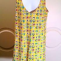 Rare Coco Chanel Women's Yellow Heart Mosaic Shirt/dress Photo