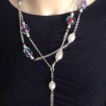 Rare Collectible Chanel Chain Belt/necklace With Multi Colored Glass Stones  Photo