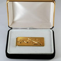 Rare Collectible Gold Plated Cigar in Ash Tray W Smoke Money Clip New in Case Photo